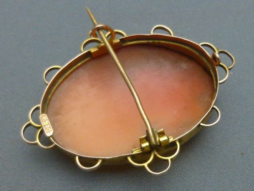 Fine Pins & Brooches Fine Jewelry Antique Victorian 9 Ct Gold Cameo Brooch Modern Design