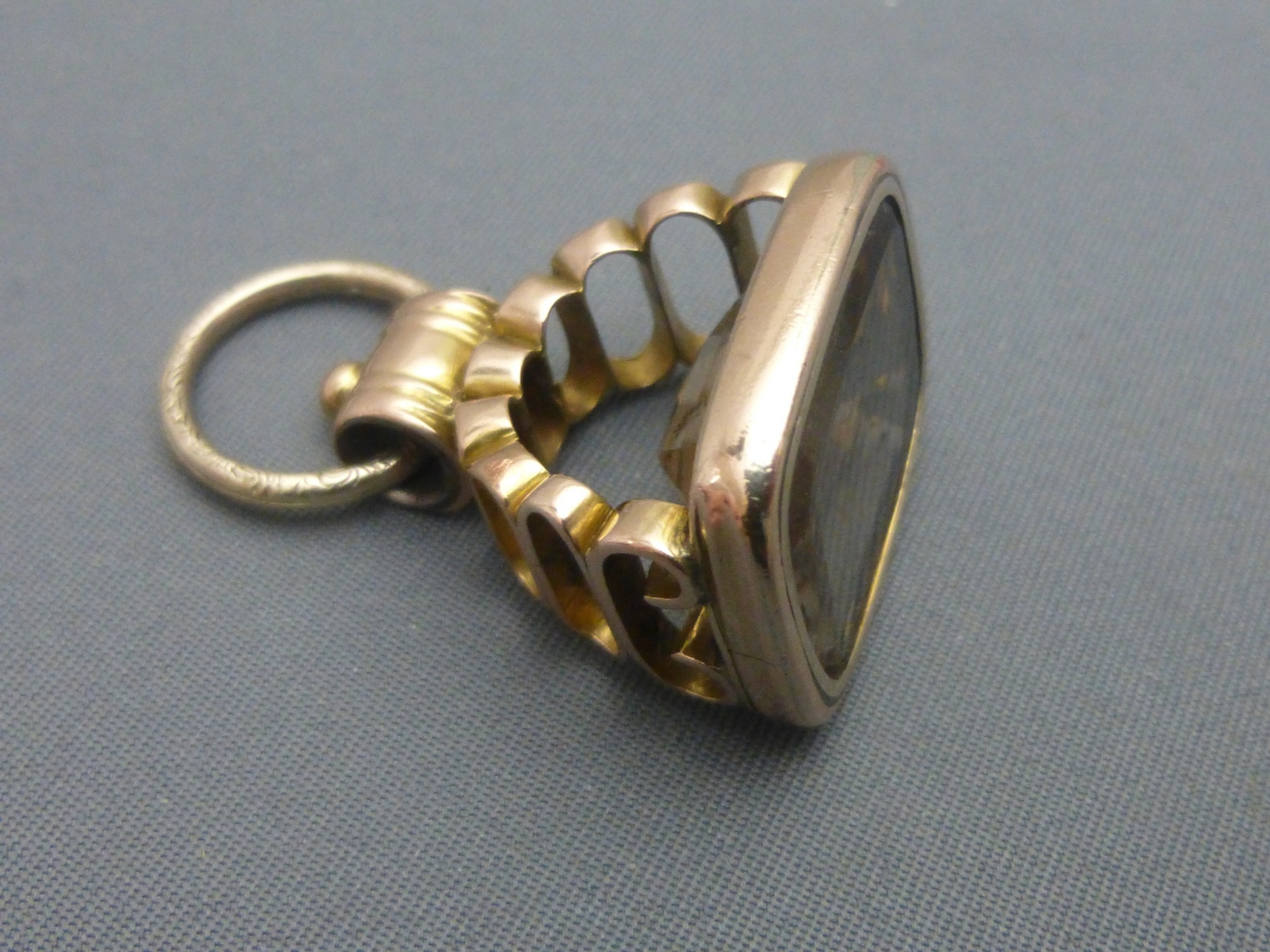 an early victorian gold cased fob