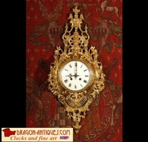 antique french cartel wall clock