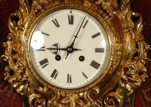 antique french cartel wall clock - photo angle #4