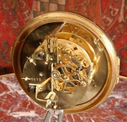 antique french cartel wall clock - photo angle #5