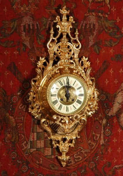 antique french cartel wall clock - photo angle #2