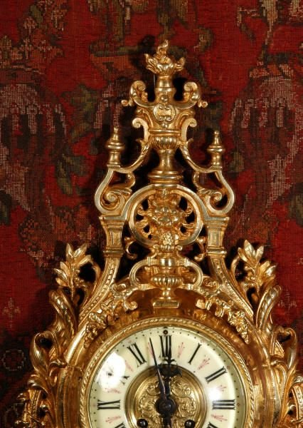antique french cartel wall clock - photo angle #3