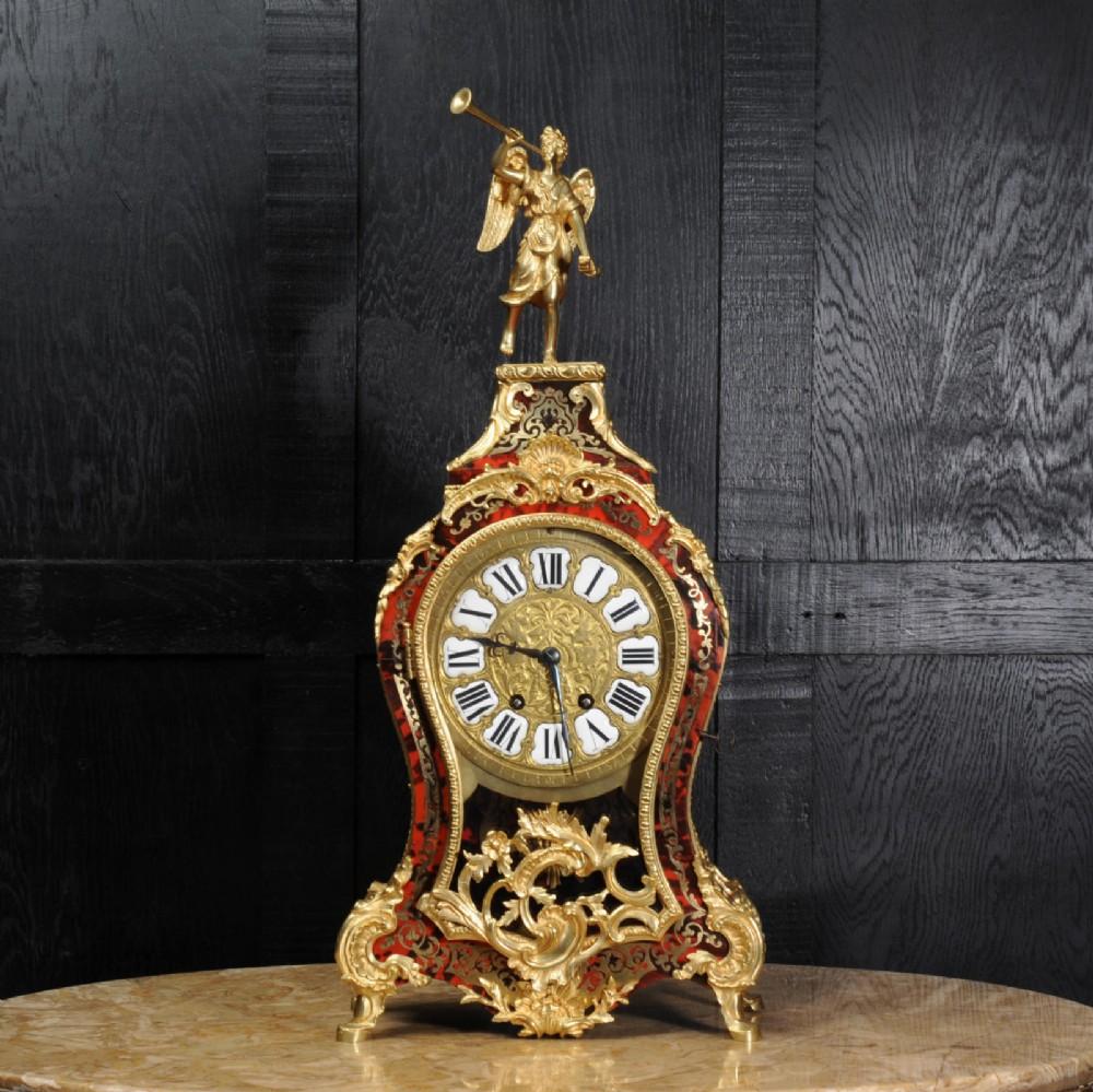 Superb Rococo Ormolu Mounted Boulle Clock ~ Goddess Pheme