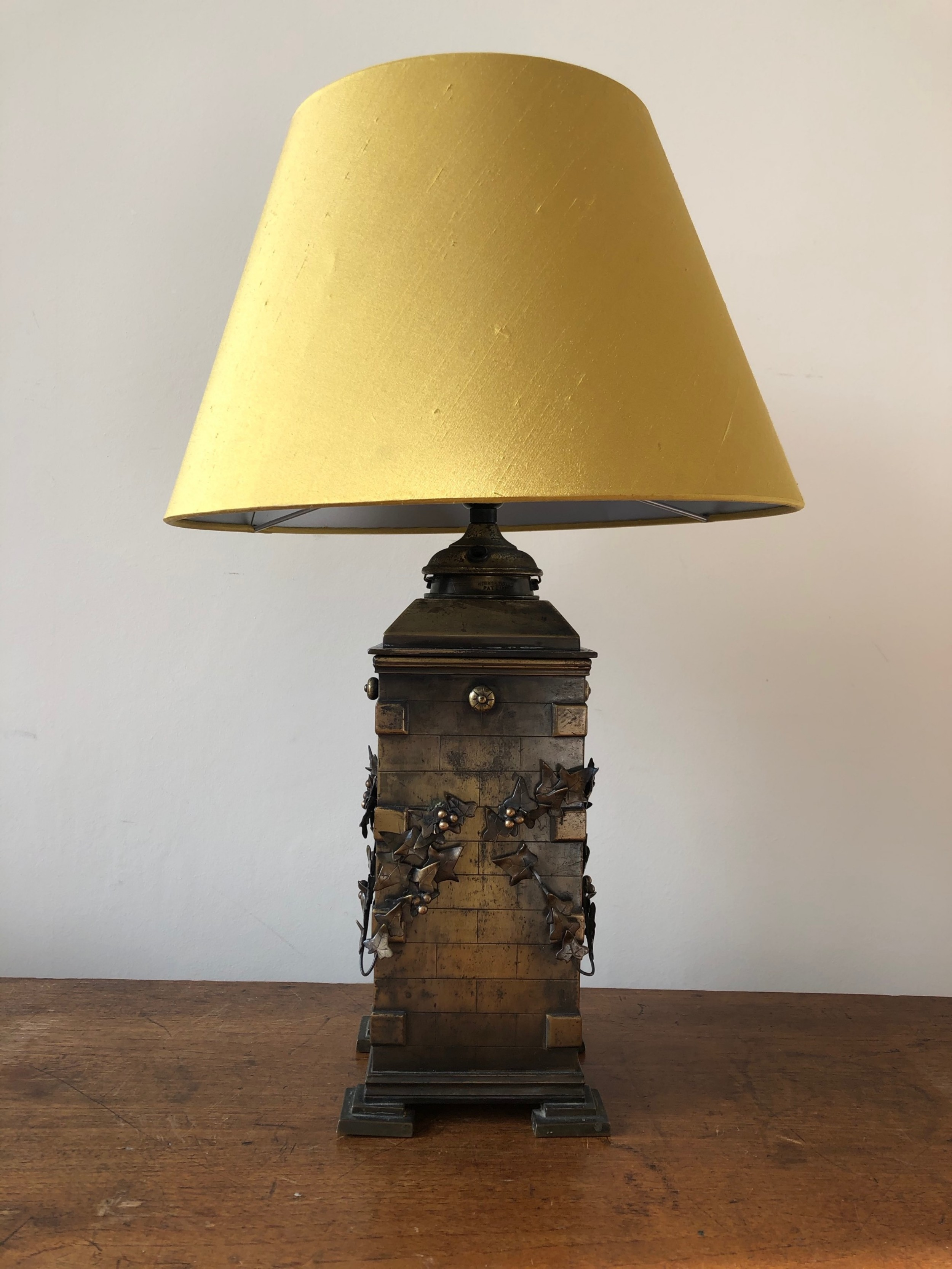 an unusual victorian architectural lamp
