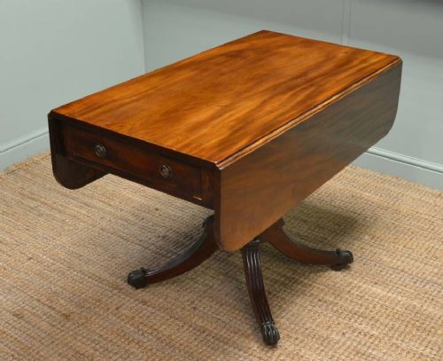regency mahogany small antique dining table drop leaf table