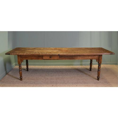 Huge 9 Ft Long Victorian French Country Farmhouse Antique Kitchen Table 324122
