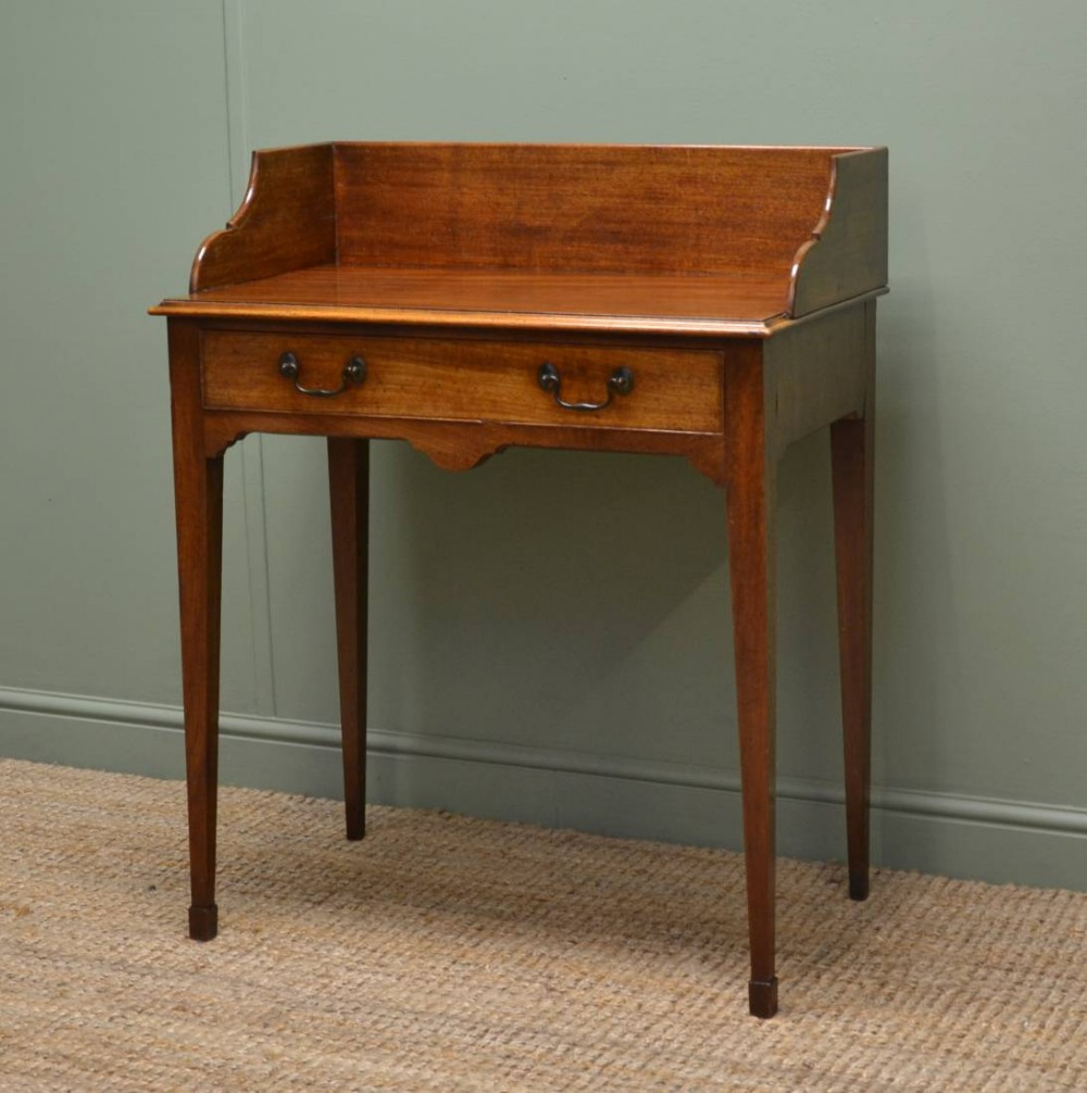 Victorian Mellow Mahogany Small Antique Writing Table Wash Stand