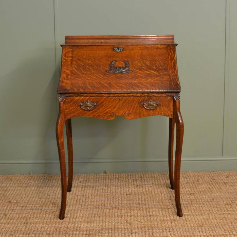 edwardian oak antique bureau desk - Edwardian Oak Antique Bureau / Desk 260042 Sellingantiques.co.uk