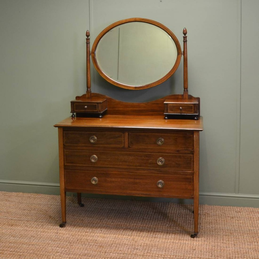 Edwardian mahogany antique dressing table 260844 for Vanity dressing table