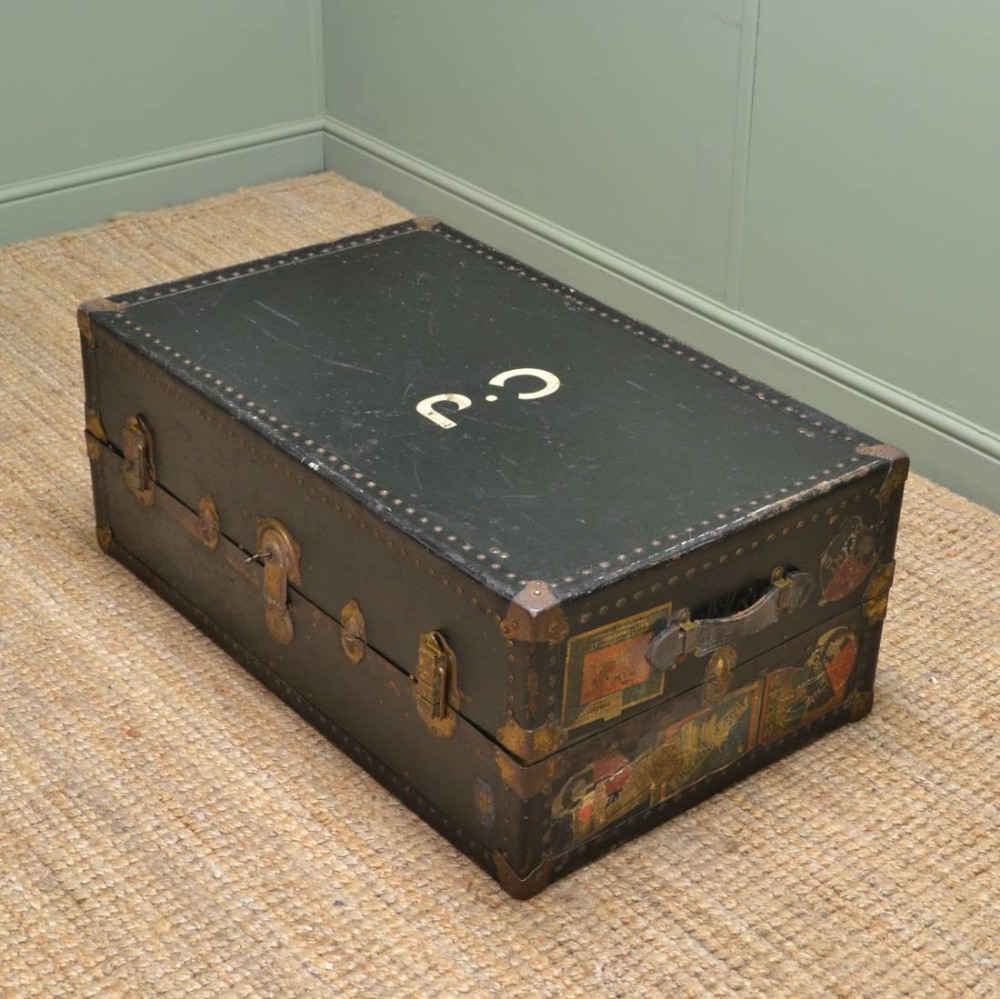 Vintage watajoy travel trunk coffee table 266033 - Antique trunk coffee table ...