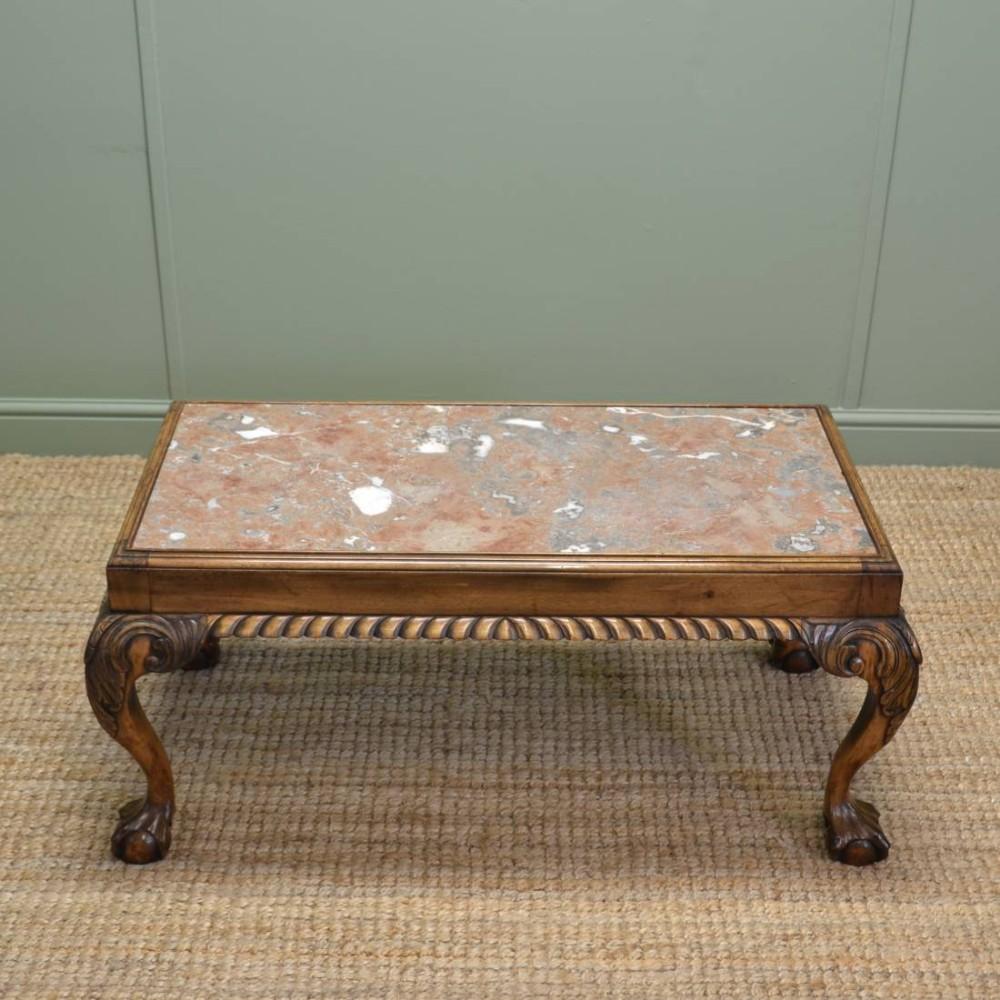 Edwardian Walnut Antique Coffee Table