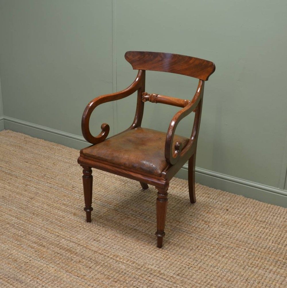 Surprising Quality Georgian Mahogany Antique Desk Chair 284357 Machost Co Dining Chair Design Ideas Machostcouk