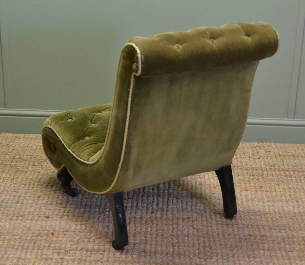 Antique slipper chair - Unusual Victorian Upholstered Antique Slipper Side Chair 357627 Sellingantiques Co Uk