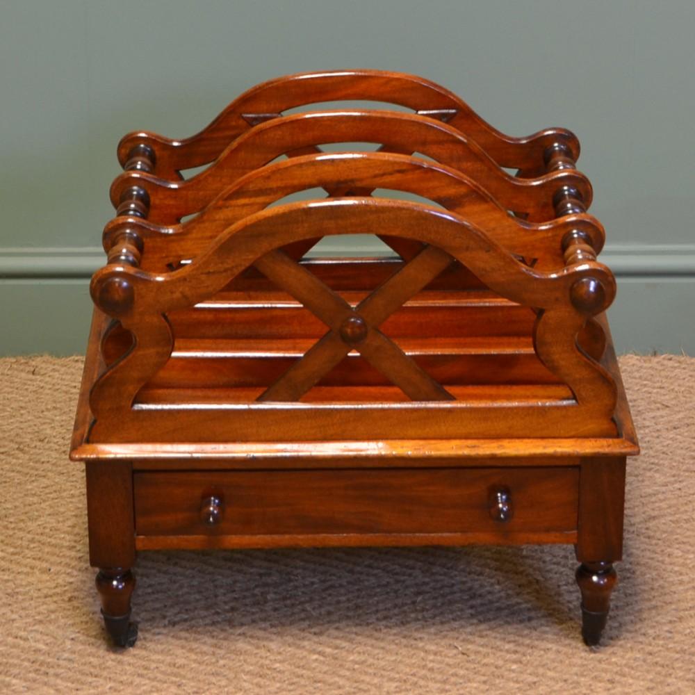 elegant victorian mahogany antique canterbury