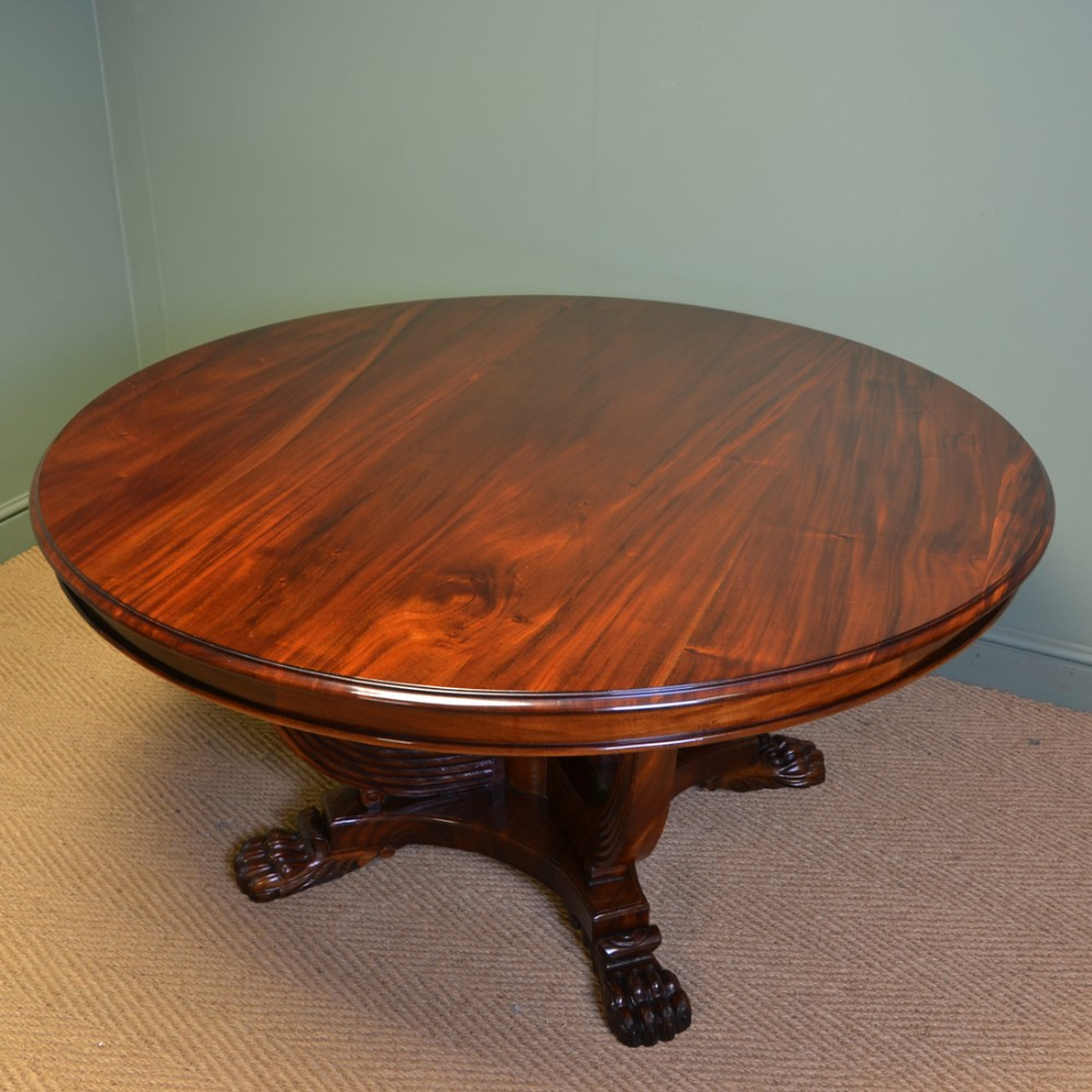 Spectacular Large Round Solid Mahogany Antique Dining Centre Table 561024 Sellingantiques Co Uk