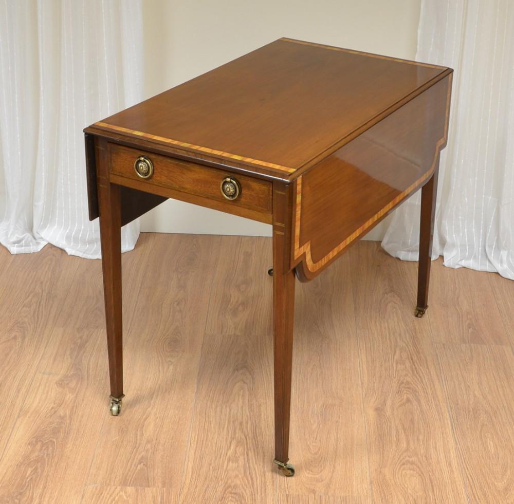 striking victorian mahogany antique drop leaf table
