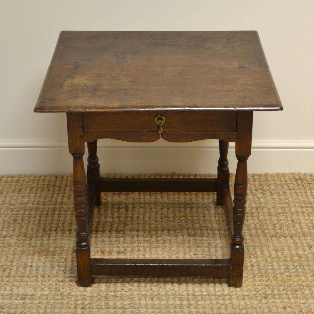 period oak georgian country antique low boy