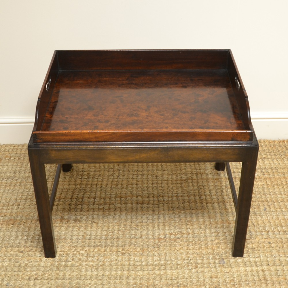 georgian mahogany country house antique tray top coffee table