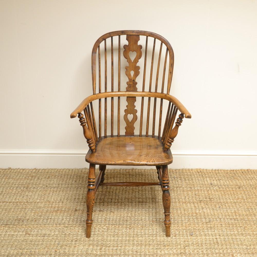 georgian ash and elm antique windsor chair
