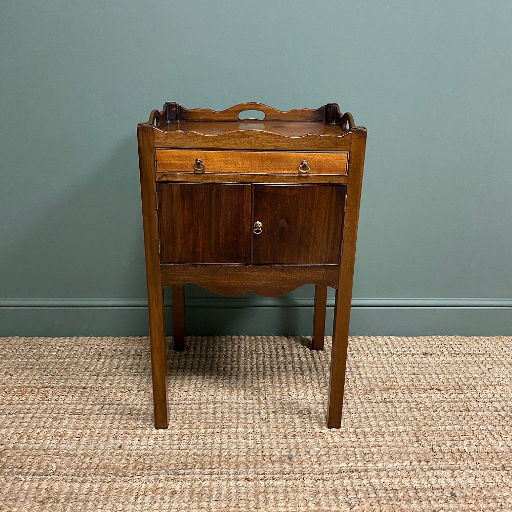 antique tray top commode night stand
