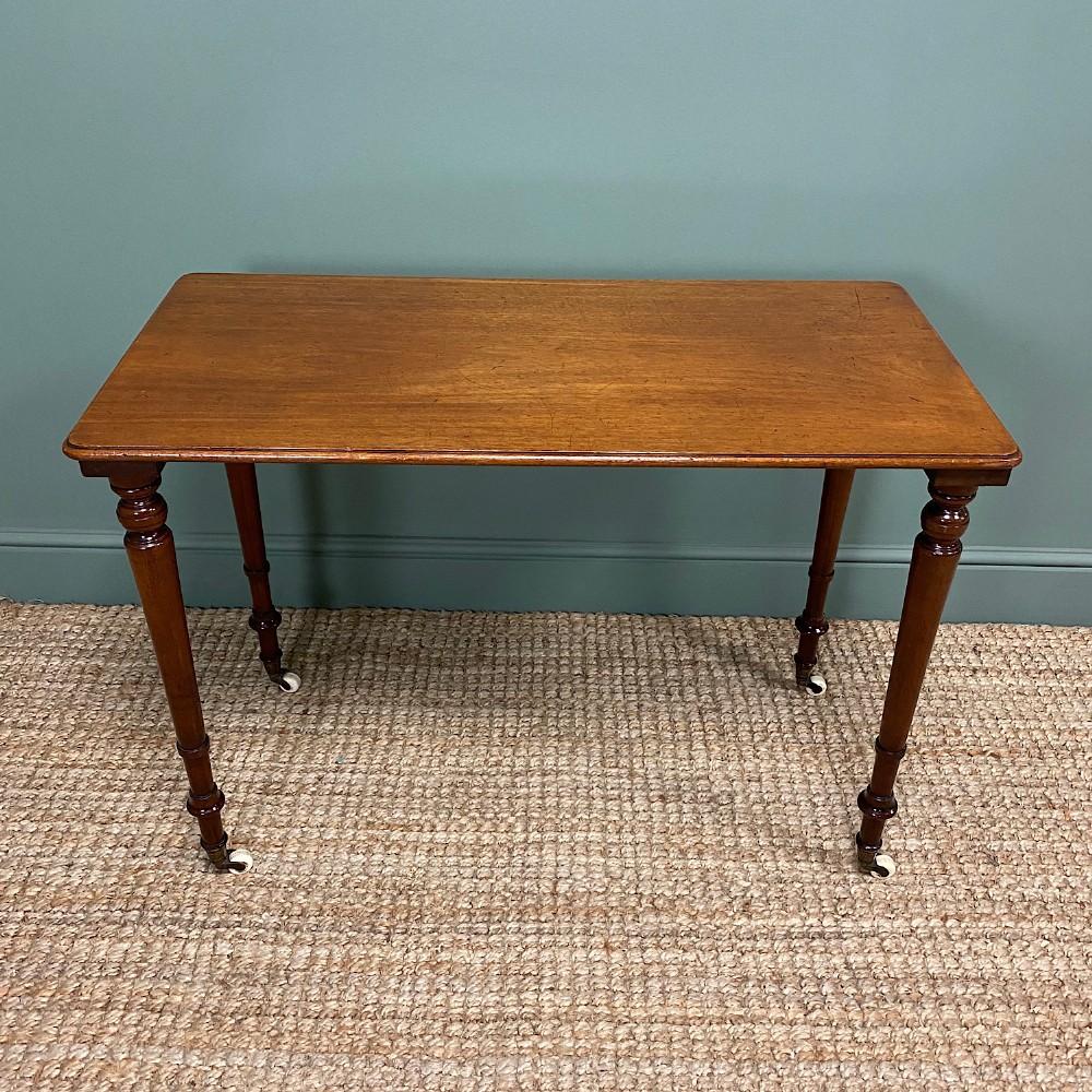elegant victorian mahogany antique side stretcher table