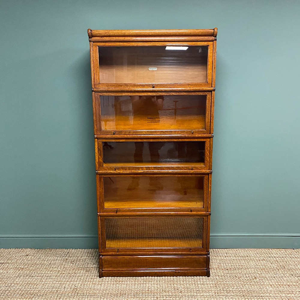 tall golden oak globe wernicke stacking barristers bookcase