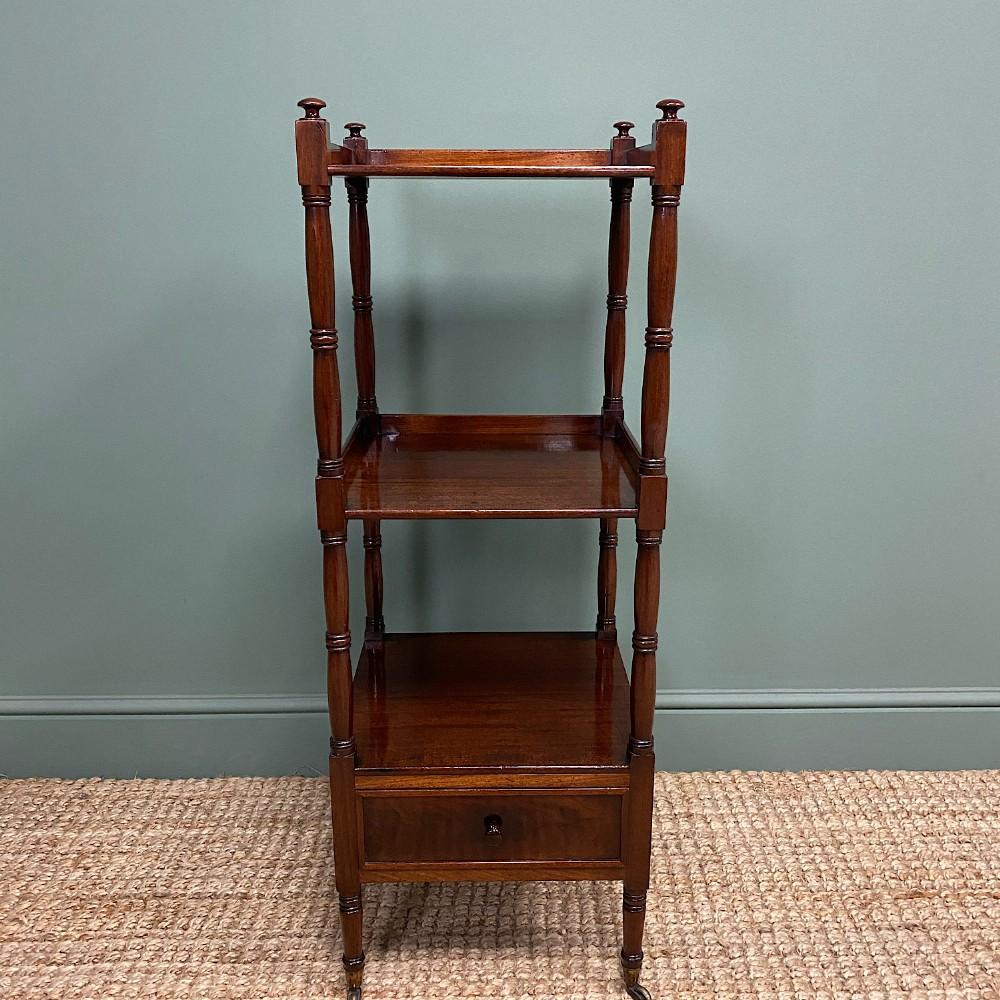 fine quality regency mahogany antique whatnot