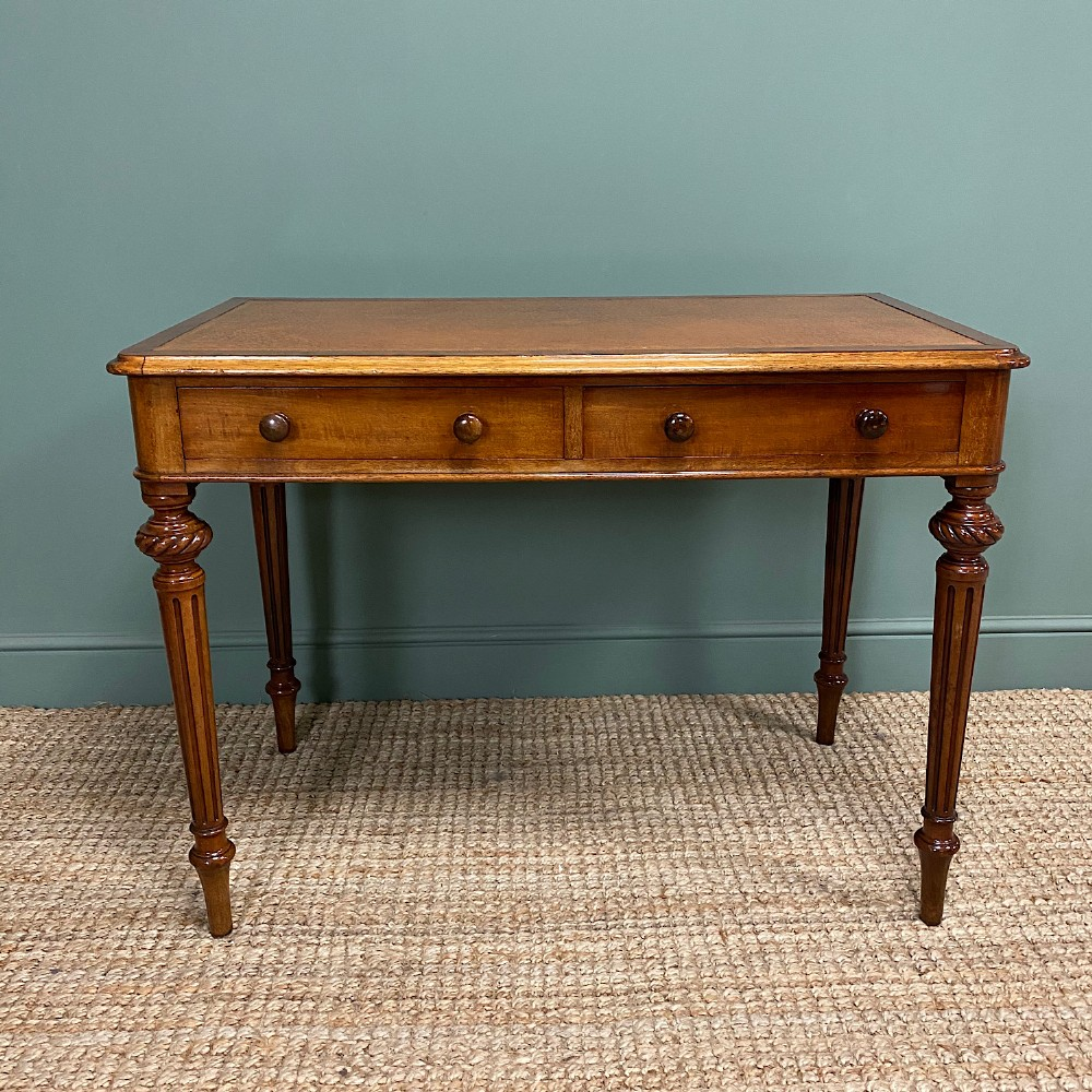 quality heal son victorian mahogany antique writing table