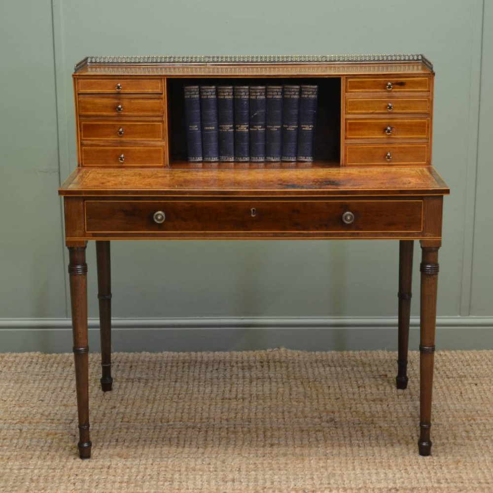 Vintage Writing Desk ~ Fine decorative regency antique writing table desk