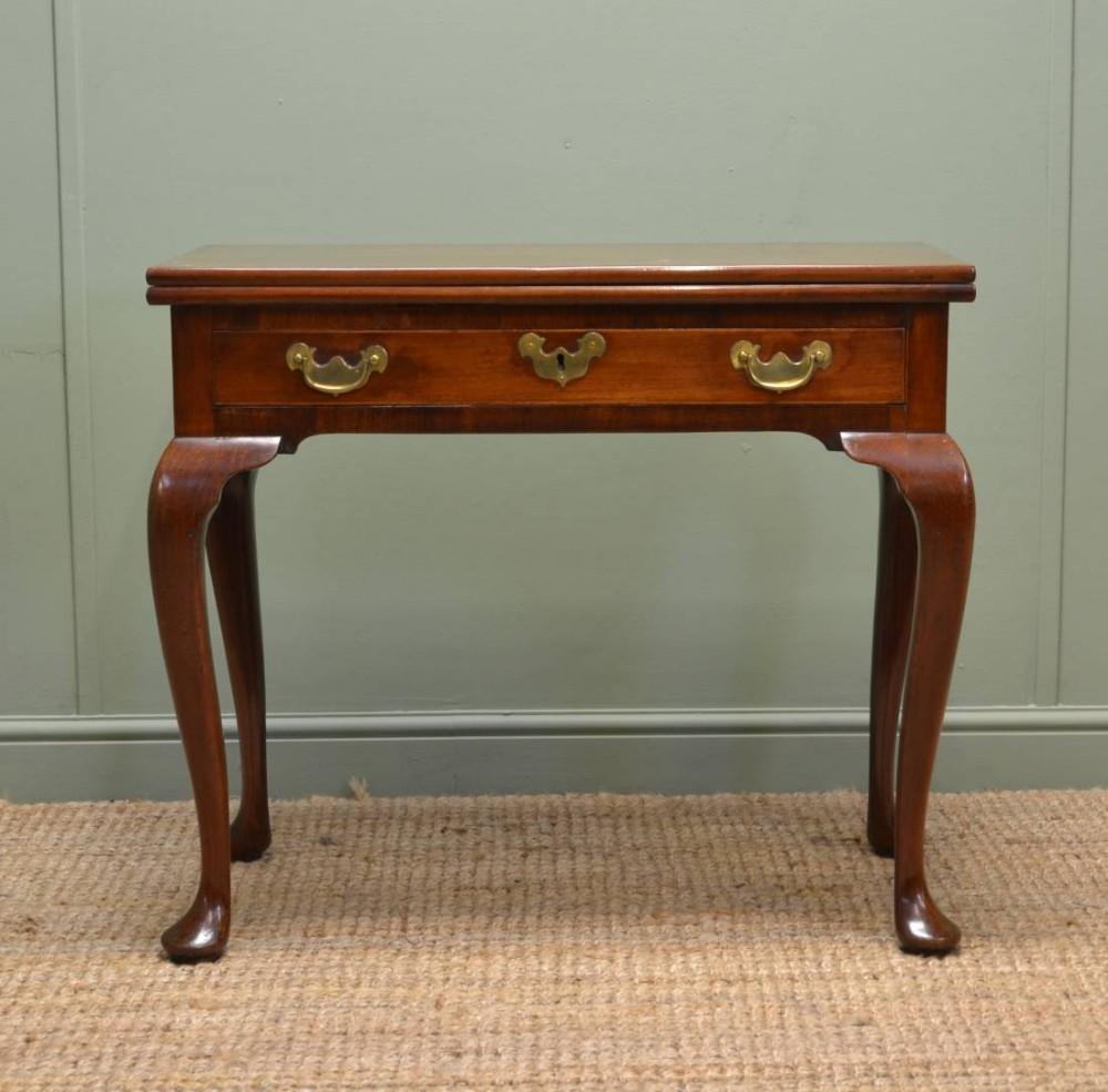 Georgian antique mahogany console table tea
