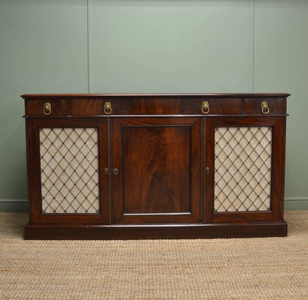 quality regency mahogany antique sideboard 283127. Black Bedroom Furniture Sets. Home Design Ideas