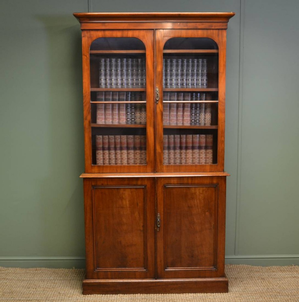 Quality Victorian 39 Slimline 39 Antique Mahogany Bookcase