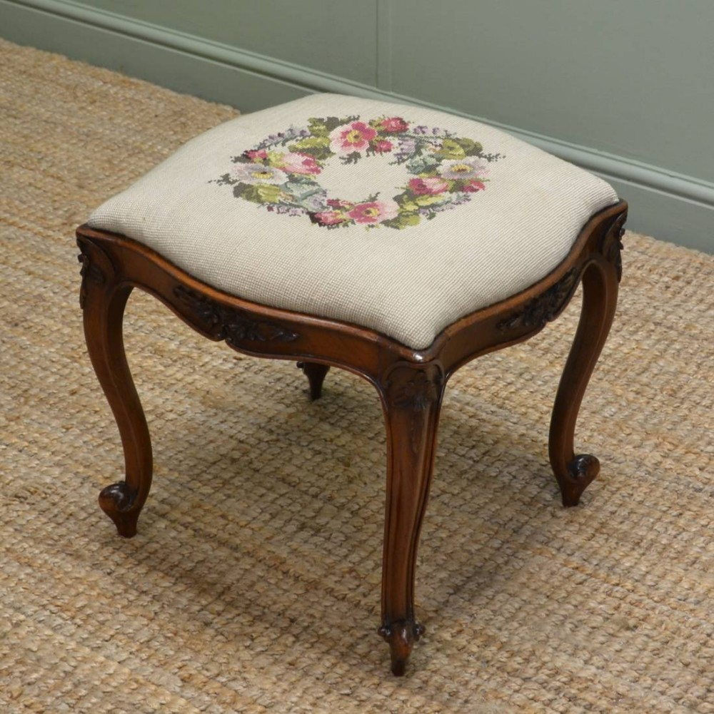 Victorian walnut decorative antique stool 261242 - Decorative stools and benches ...