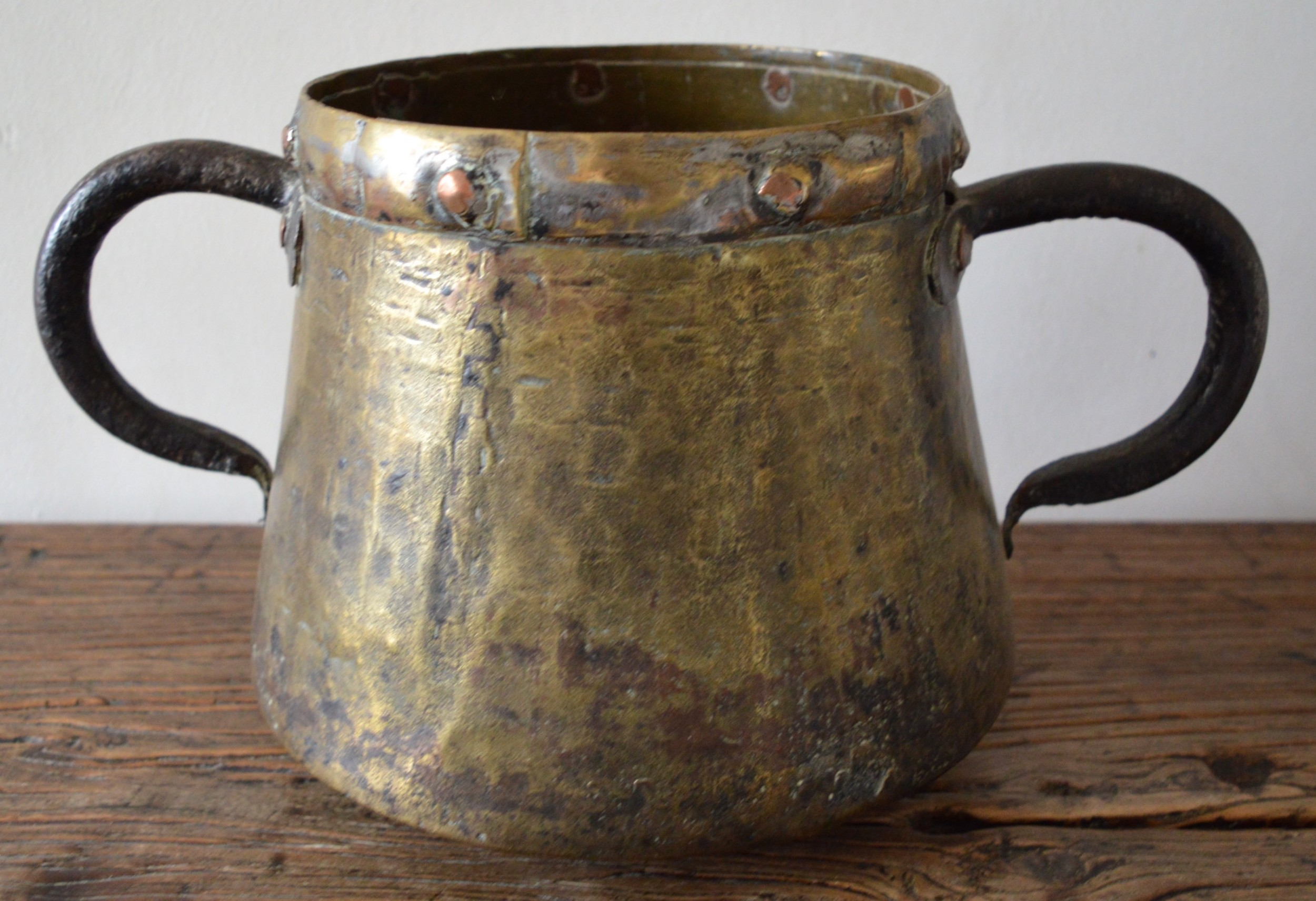 arts crafts double handled copper