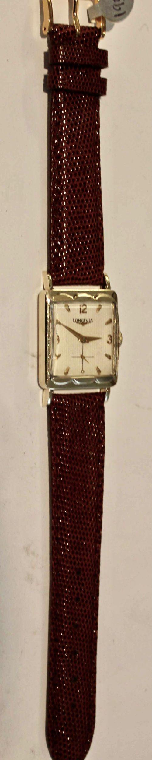 fine swiss 14ct gold longines wrist watch with 17 jewel handwound movement 1952 model restored with 2year guarantee