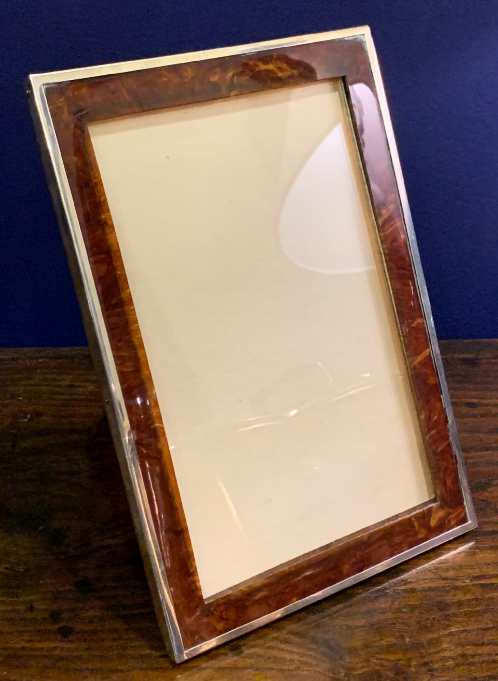 lovely silver frame with faux celluloid insert birmingham 1929 makers saunders mackenzie