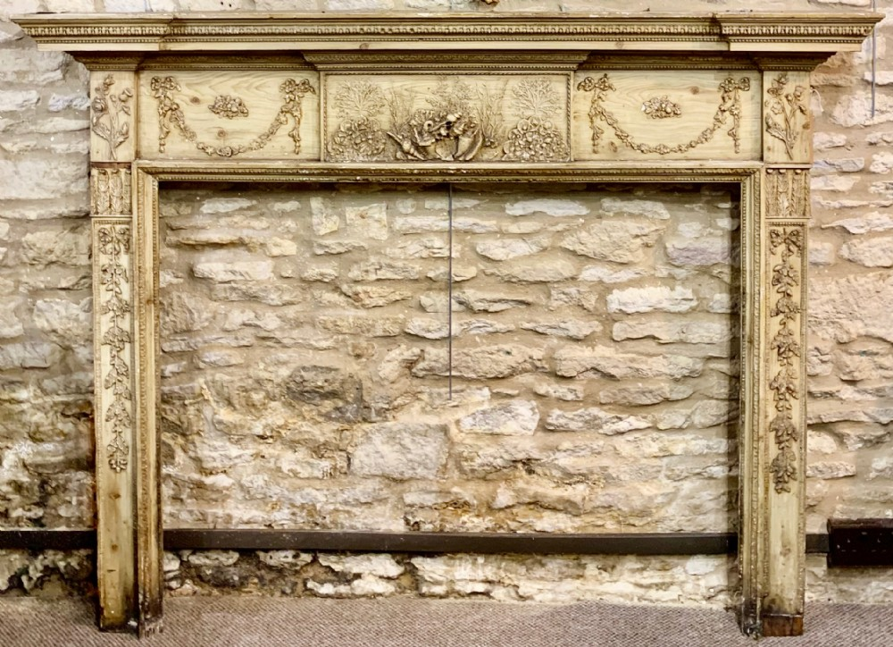 a very pretty regency fire surround with lovely moulded gesso relief c 181020