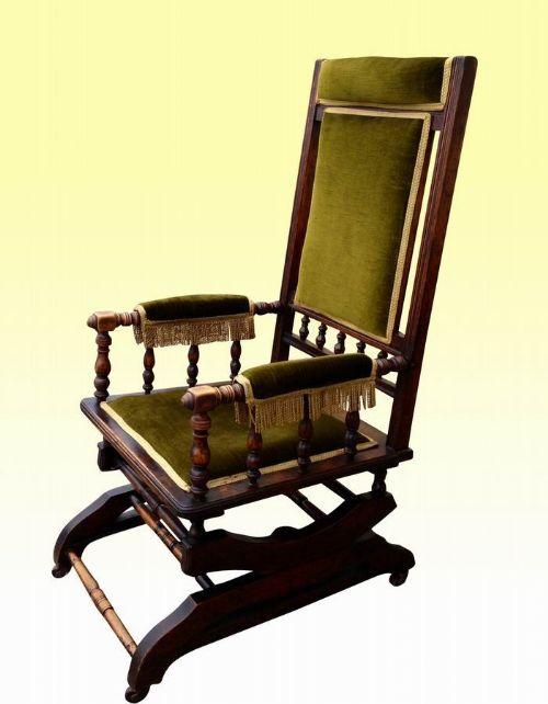 antique rocking chair - Antique Rocking Chair 236171 Sellingantiques.co.uk