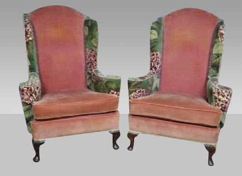 David Wolfenden Antiques - Antique Wingback Chairs - The UK's Largest Antiques Website