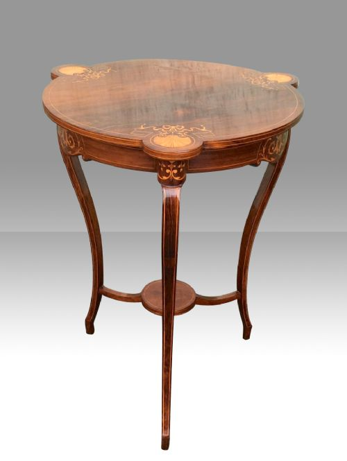 stunning fine inlaid rosewoodoccasional table