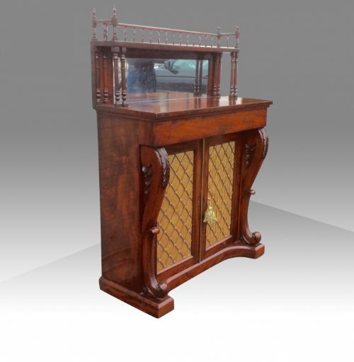 a fine quality william iv mahogany narrow chiffonier cabinet