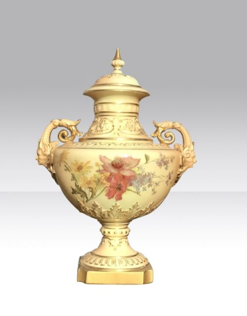 fabulous antique royal worcester vase and cover
