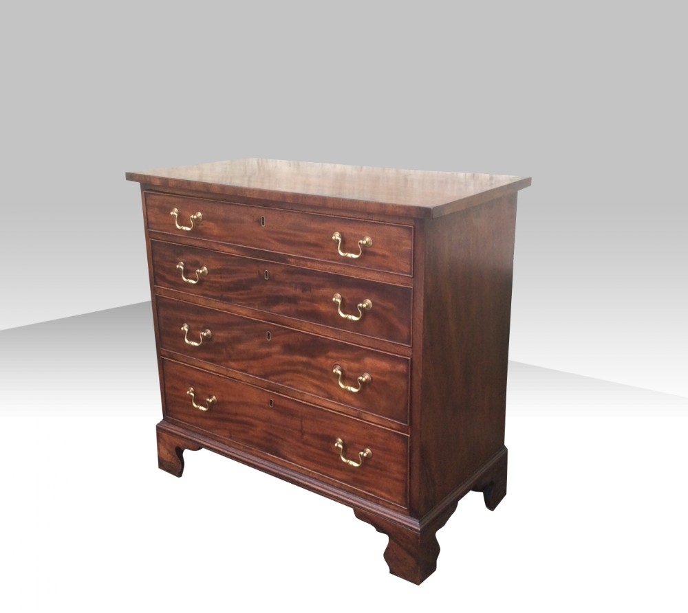 small antique georgian mahogany chest of drawers