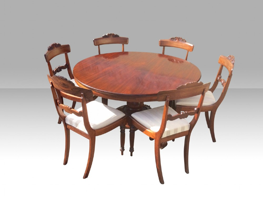 antique circular mahogany breakfast dining table