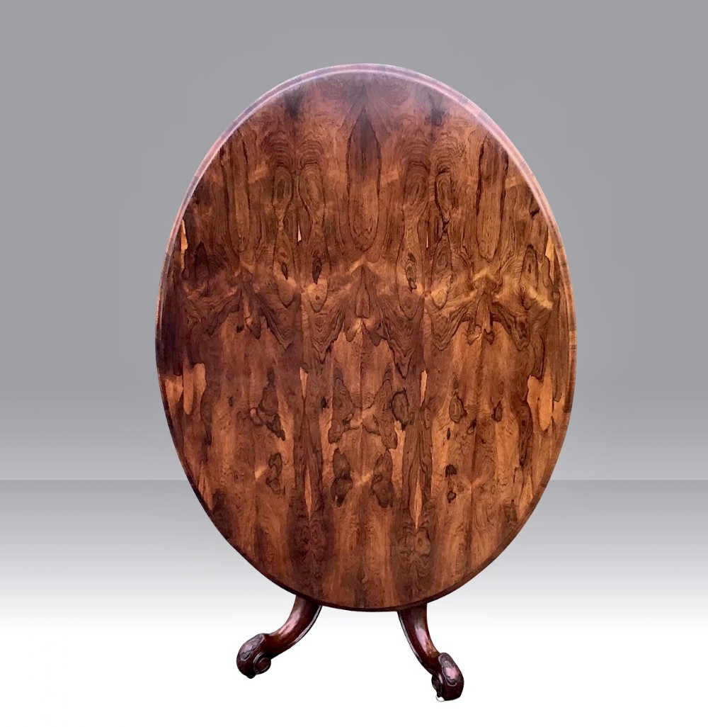 antique early victorian oval rosewood centre pedestal hallbreakfast loo table