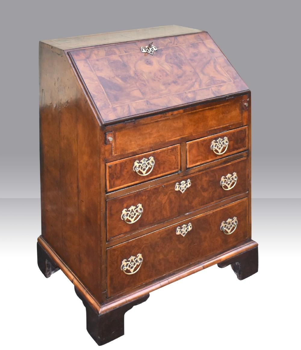 george first period antique walnut bureau