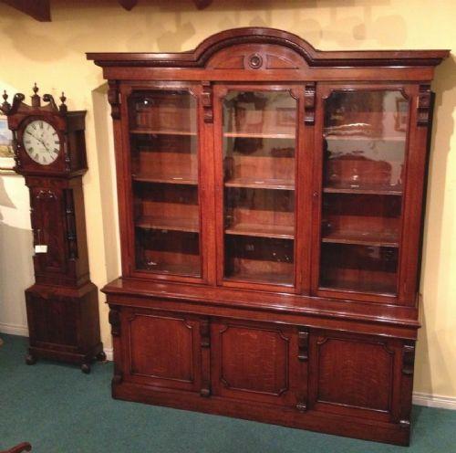 Old Bookcase Uk : Large antique library bookcase sellingantiques