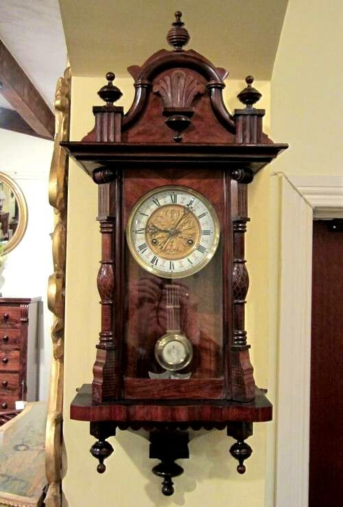 Small Antique Spring Vienna Wall Clock 150002