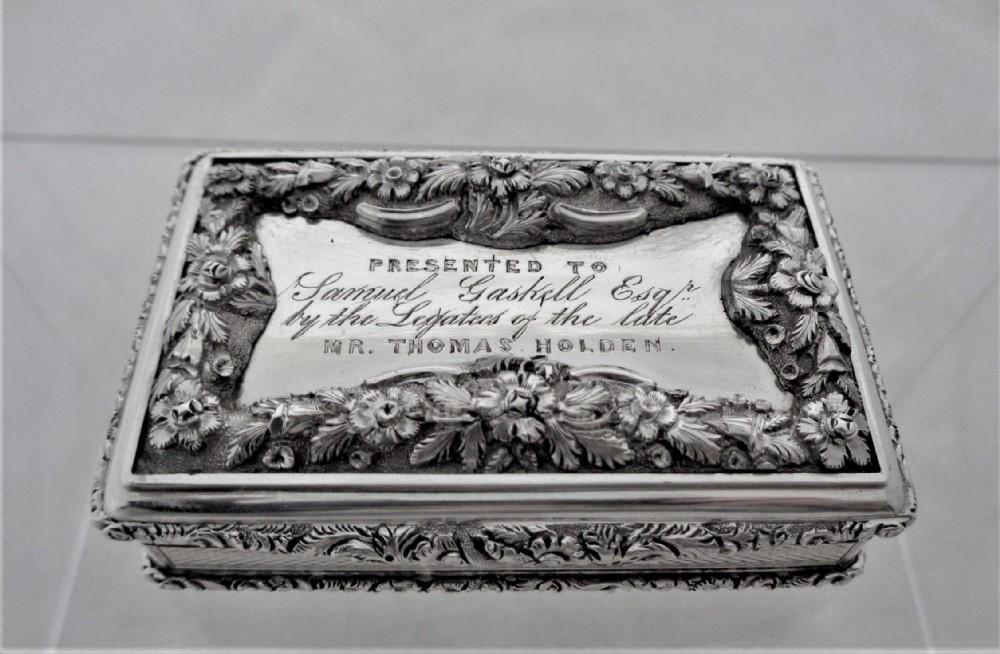 superb quality early victorian table snuff box birmingham 1839 fclarke